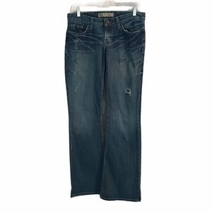 BKE star flared 100 percent cotton jeans GUC